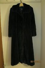 Vintage Black Diamond Full Length Dark Mink Fur Coat Size 8-10
