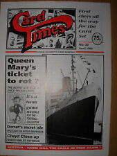 CARD TIMES MAGAZINE FORMERLY CIGARETTE CARD MONTHLY No 33 APRIL 1992