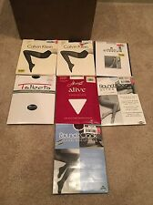Mixed Lot of 7 pairs Calvin Klein Pantyhose Plus Others Free Shipping Size B