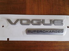 "NEW GENUINE RANGE ROVER ""VOGUE SUPERCHARGED"" BADGE REAR BOOT BADGE LATEST 2013"