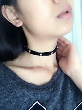 Women Girls retro Black Harajuku Velvet Rivet Choker short Punk Gothic Necklace
