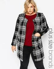 Carmakoma Plus Size Tibet Coat Jacket In Mono Check size XL - UK 26 rrp £149