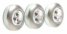 3 Pack Wireless Super Bright LED Under Cabinet Closet Tap Light Battery Powered