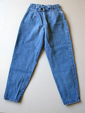 Vintage 90s High Waist Mom Jeans Tapered Leg Blue 12 Denim 27""