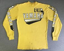 Yamaha Jersey Shirt 80s Vtg Yellow Mock Turtleneck Motocross Moto-X USA Men XL