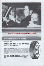 US Royal Tyres Tyrex 1962 Magazine Advert #3466