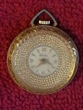 VINTAGE LADIES LUCERNE GOLD TONE PENDANT WATCH