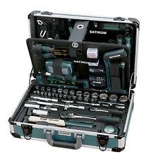 SATINUM 111 Werkzeugkoffer 206 tlg Profi Universal Alu Werkzeugkasten Werkzeug