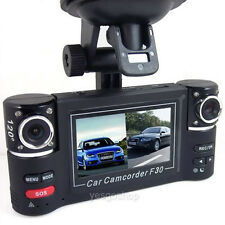 "NEW 2.7"" Dual Lens 1080P Full HD Car DVR Camera Video Recorder Dash Cam G-sensor"