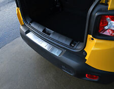 TO FIT JEEP RENEGADE 2015+: BRUSHED CHROME REAR BUMPER SILL PROTECTOR COVER TRIM