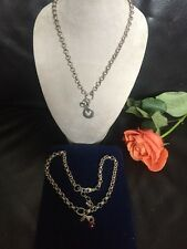 Lot Of Two Piink And Silver Origami Owl Necklace