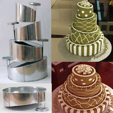"Topsy Turvy Set of 4 Round Cake Pans with Detachable Stand by Euro Tins 6""-12"""