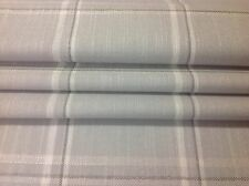 Laura Ashley Corby check made to measure Roman blind in dove grey.