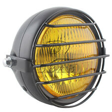 Grill Amber Vintage Motorcycle Side Mount Headlight Cafe Racer Bobber Custom