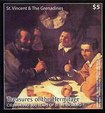 ST.VINCENT 2003 HERMITAGE VELAZQUEZ PAINTING S/S MNH  FOOD
