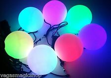 Light Up Poi Balls Pair -7 Color & 9 Function- LED Glow, Rave, Belly Dancer Prop
