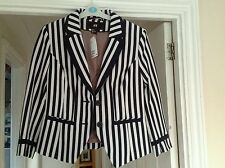 Ladies Navy striped Blazer from H&M Size 12