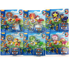 6pcs Paw Patrol Chase Ryder Deformation dog backpack projectile&shield toys Kits