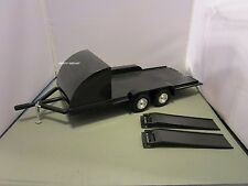 ERTL 1/18 HARD TO FIND BLACK CAR TRAILER USED  *ISSUE* NO BOX