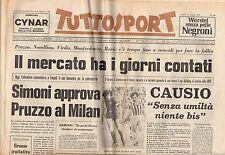 rivista TUTTOSPORT - 11/07/1977 N. 180 PRUZZO AL MILAN