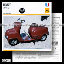 #010.03 Scooter TERROT 125 SCOOTER VM S2 50's Fiche Moto Classic Motorcycle Card