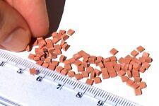 100 miniature half bricks, or cobble stones patio tiles for O / HO scale diorama