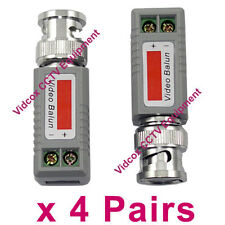4Pair Passive Video Balun Connector Coaxial BNC to UTP Cat5 Cat6 for CCTV Camera