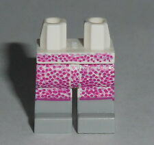 LEGS 020 Lego White Skirt w/ Pink Dots & Light Bluish Gray Boots NEW Girl 21302