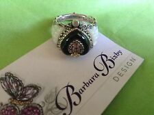 Barbara Bixby Sterling Silver 925  18k Gold Angel Wing Heart Ring Size 5