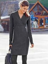 ATHLETA NWT $138 Chalet Sweater Dress~Charcoal Heather Sz MEDIUM