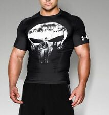 NEW MEN'S UNDER ARMOUR HEATGEAR ALTER EGO PUNISHER COMPRESSION SHIRT- 2XL