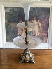 "Museum Quality Antique Victorian Epergne 25""  Cut Glass 3 Tier Centrepiece Tazza"