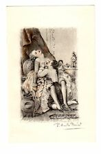 FOREPLAY French Woman Nude BREAST Paul Becat Art Print