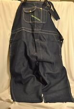 New Authentic Key Imperial Big and Tall Men's 58 x 32  Denim Jean Bib Overalls
