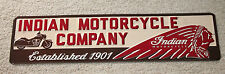 Indian Motorcycle Company Vintage Style Signs Harley Davidson Chief Man Cave Dad