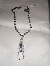 Lucky Brand Palace Garden Two Tone Pyrite Tassel Pendant Long Necklace $59