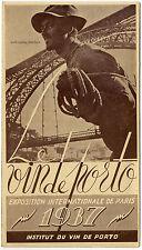 Werbeflyer für eine Portwein-Messe in Paris von 1937