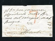 1840 PREPHILATELIC COVER SPAIN COCENTAINA TO ALICANTE