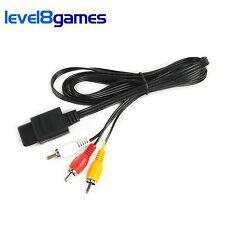 AV Audio/Video TV Composite Cable for Nintendo N64 SNES Super GameCube 6FT