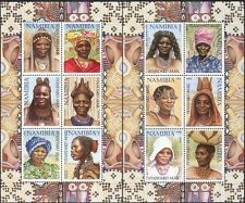 Namibia 2002 Headdresses/Hairstyles/Hair/Costumes CORRECT 2 x 6v sht (n16599)