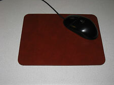 "Leather Mouse Pad / Mat Deep Ruby Redish Brown 7 1/2 X 9 1/2 x .156"" thk"