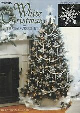 White Christmas in Thread, Leisure Arts Tree Decor Crochet Pattern Booklet 3232
