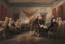 """""""Declaration of Indepndence, July 4th 1776"""" John Trumbull Fine Art Giclee Canvas"""