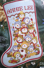 "Janlynn / Joan Elliott ""Snowman Tumble Stocking"" Counted Cross Stitch Kit"