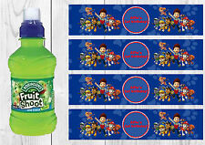 6 Paw Patrol Personalised Fruit Shoot Bottle Wrappers Party Favour
