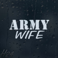 Army Wife Military Car Decal Vinyl Sticker