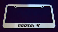 2 MAZDA 3 LICENSE PLATE FRAME, CUSTOM MADE OF CHROME 2 Frames