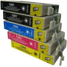 5 Replacements for Epson T1291 T1292 T1293 T1294 Printer Ink Cartridges
