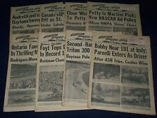 1972 NATIONAL SPEED SPORT NEWS NEWSPAPER LOT OF 33 - GREAT PHOTOS + ADS - O 14