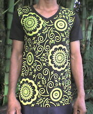 T SHIRT FOR YOUNG ADULT - GROVY STYLE - RETRO 70's LOOK. 'FLOWERPOWER' Size: M-L